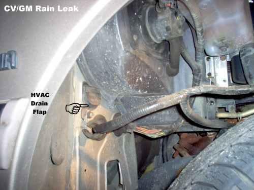 small resolution of help locate evaporator condensation drain body and interior crownvic net