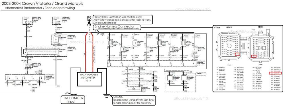 medium resolution of diesel tach wiring http crownvicnet drock96marquis tachhtm