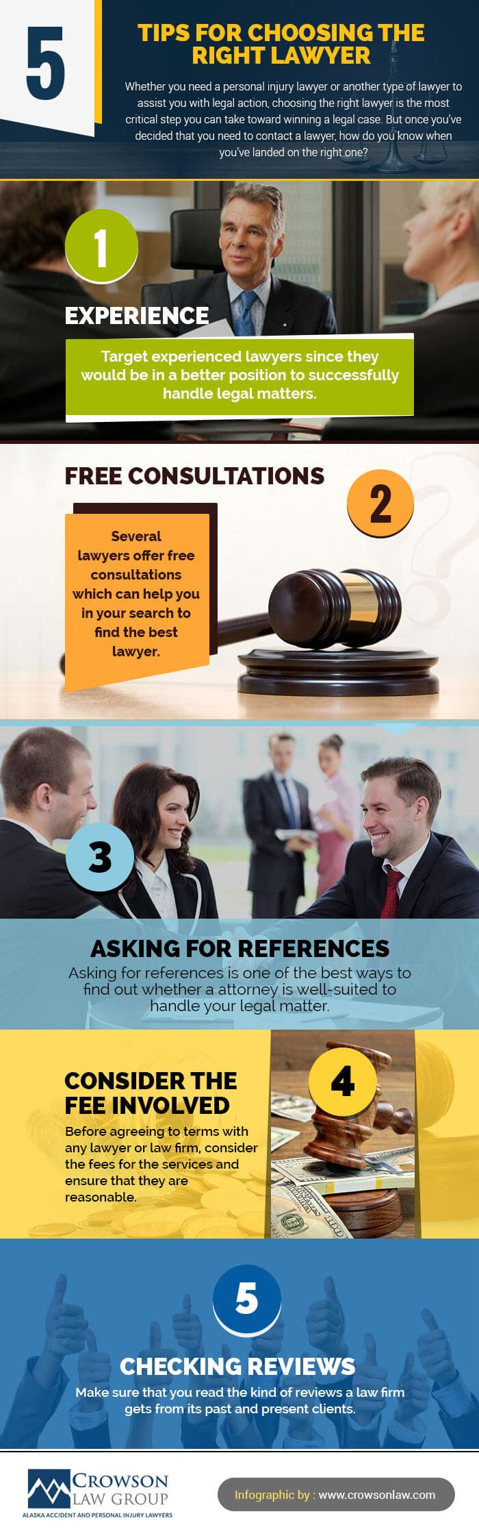 Infographic 5 Tips For Choosing The Right Lawyer