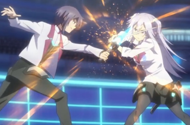 As usual, The Asterisk War's fight animation is thrilling and vivid. Capture from the Crunchyroll stream.