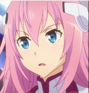 Julis and Ayato were both astonished at the power of the two robots. Capture from the Crunchyroll stream.