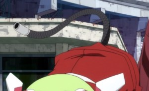 I'm still not clear why she has a tail. What is up with that? Capture from the Funimation stream.