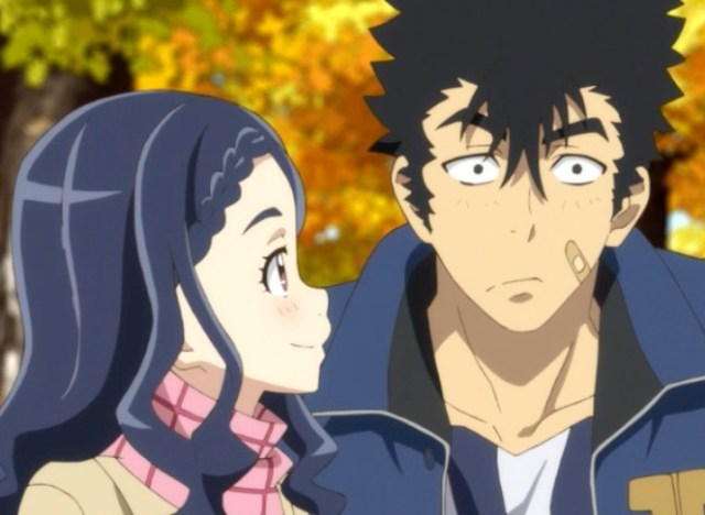 Mabuchi could hardly believe his luck finding such an intelligent, sensitive, and beautiful girlfriend. This being anime, though... Capture from the Funimation stream.