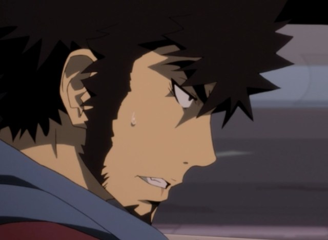 Mabuchi feels intense anxiety before he's able to bring it under control. Capture from the Funimation stream.
