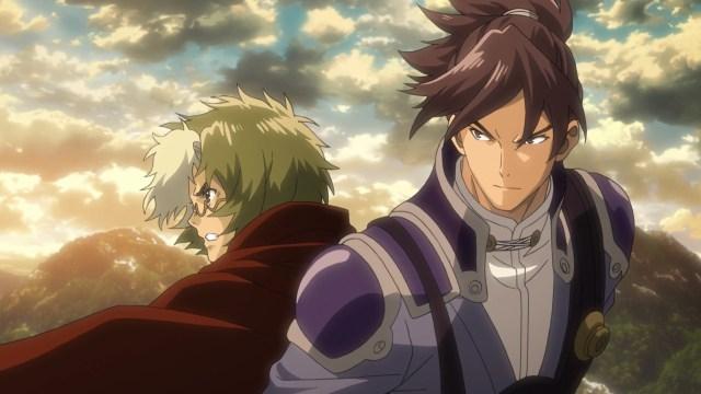 Kabaneri of the Iron Fortress Episode 6: Ikoma and Kurusu strike a dramatic pose