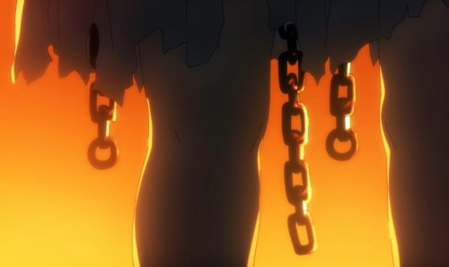 Something about those chains and how they gently swung back and forth is going to give me nightmares. Capture from the Crunchyroll stream.