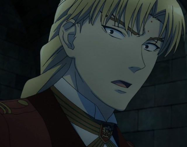 Howard Link knew something was wrong, but years of obedience to Church authority slowed his reaction. Capture from the Crunchyroll -- yes, Crunchyroll! -- stream.