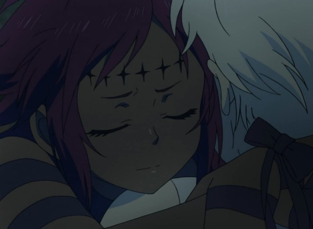 Road's concern for Allen seems genuine -- though her motives are certainly unclear! Capture from the Crunchyroll -- yes, Crunchyroll! -- stream.