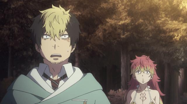 Blue Exorcist Kyoto Saga Episode 11: Ryuji and Kirigakure were surprised why Rin was celebrating