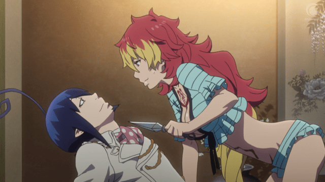 Blue Exorcist Kyoto Saga Episode 12: Kirigakure and Mephisto have a chat