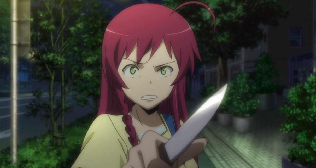 The Devil Is a Part-Timer Episode 2: Emilia wields a 100-yen knife