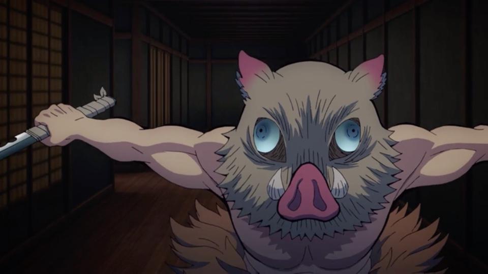 Review of Demon Slayer Kimetsu No Yaiba Episode 12: Inosuke Hashibira on the Attack