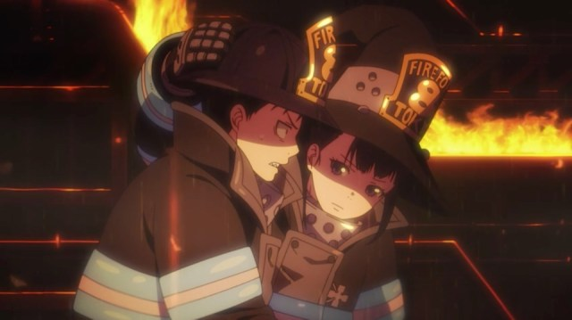 Fire Force Episode 01: Maki encourages Shinra