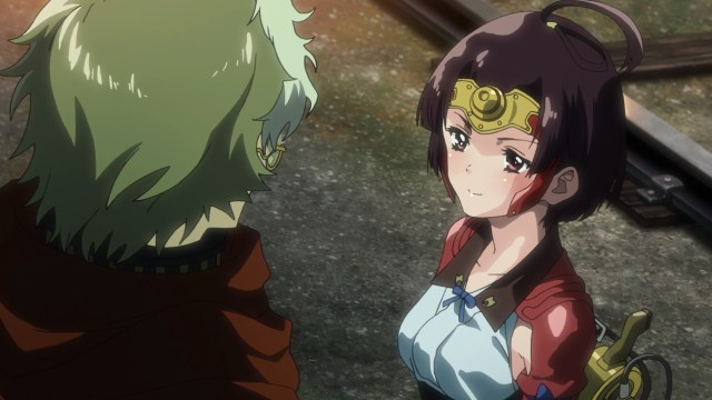 Kabaneri of the Iron Fortress Episode 2: Mumei knows more than she lets on.