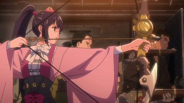 Kabaneri of the Iron Fortress Episode 4: Ayame has a steam-powered bow!