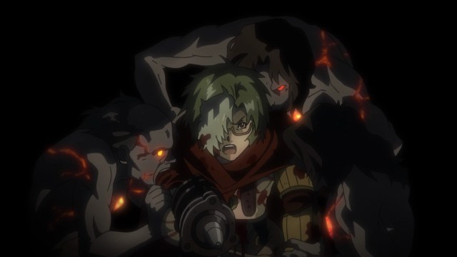 Kabaneri of the Iron Fortress Episode 6: Ikoma rights to keep Mumei safe.