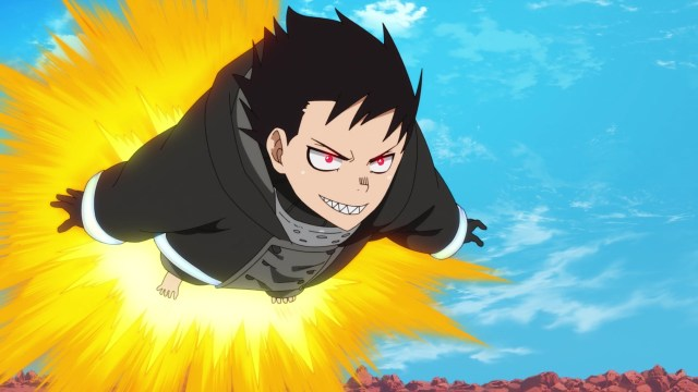 Fire Force Season 2 Ep 10: Shinra just learned his true enemy was God's creator.
