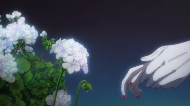 Land of the Lustrous Episode 4: Cinnabar can't even touch a flower