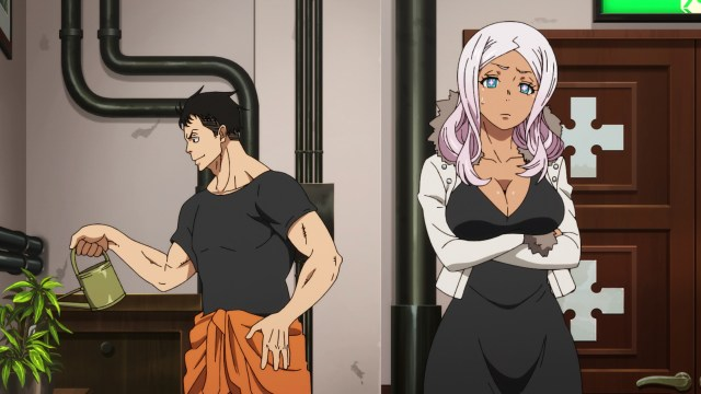 Fire Force Season 2 Ep 22: Hibana remains unimpressed.