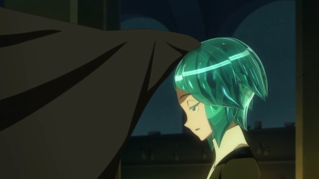 Land of the Lustrous Episode 8: Despite having lost two arms, Phos tried to keep their sense of humor