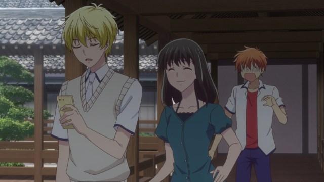 Fruits Basket - The Final Episode 12: Momiji and Kagura set Kyou up the bomb!
