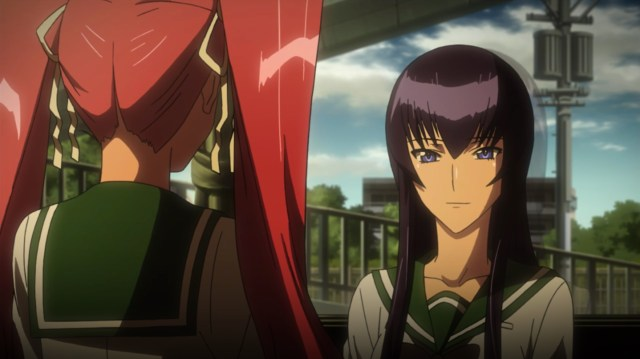 High School of the Dead Episode 5: The dub and sub Saeko have very different motivations