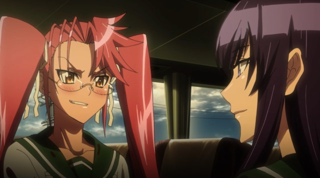 High School of the Dead Episode 5: Saya's reaction means different things in the dub and sub