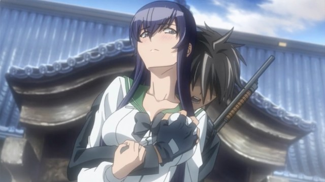 High School of the Dead Episode 9: Takashi should really learn to watch his hands