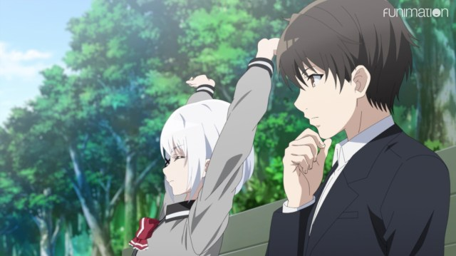 The Detective Is Already Dead Episode 5: Siesta and Kimihiko seem comfortable with each other.