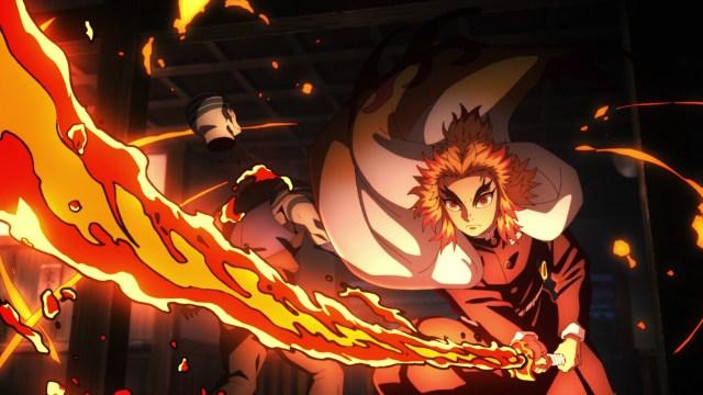 Demon Slayer 2 Episode 1: Rengoku is very, very fast