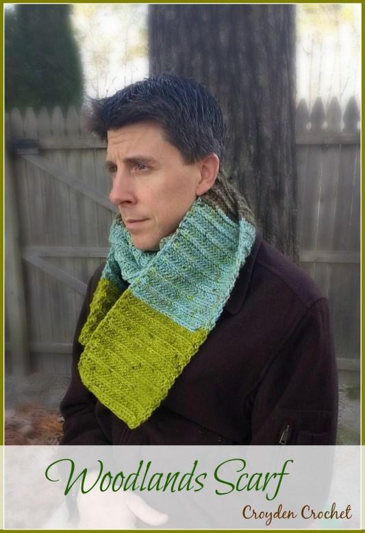 Woodlands Crochet Scarf Pattern