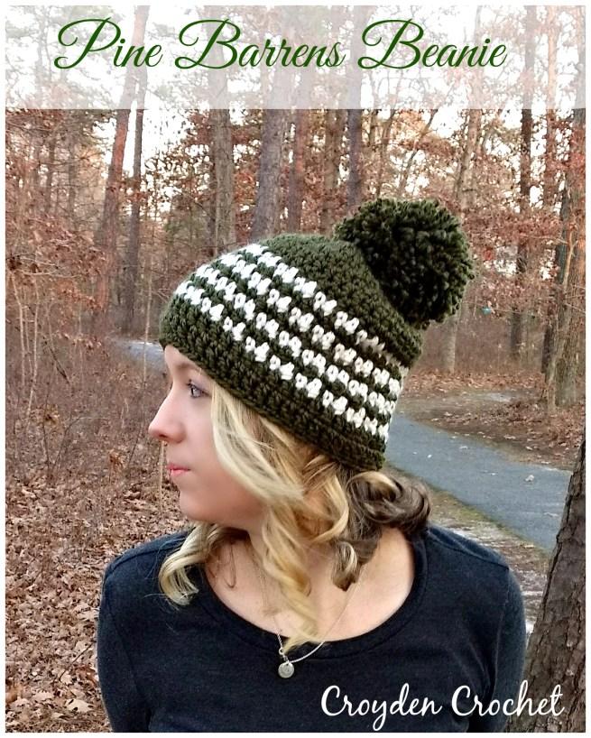 pine barrens crochet beanie
