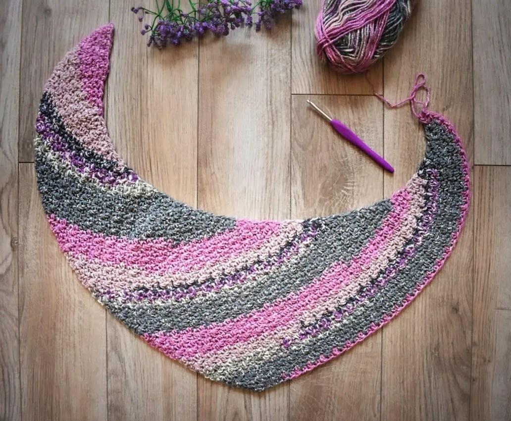 starburst boomerang shawl pattern