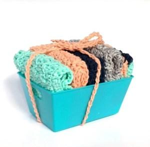 Floret Stitch Washcloths