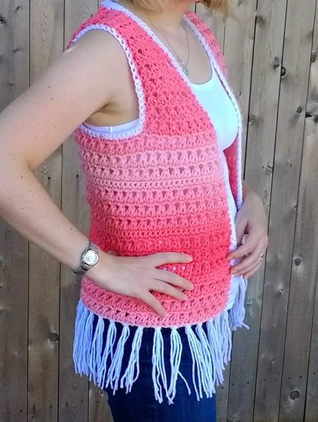 Ombre Boho Crochet Vest Pattern