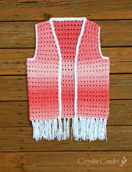 Ombre Boho Vest Croyden Crochet Free Pattern