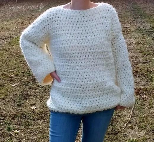 chunky oversized crochet sweater pattern