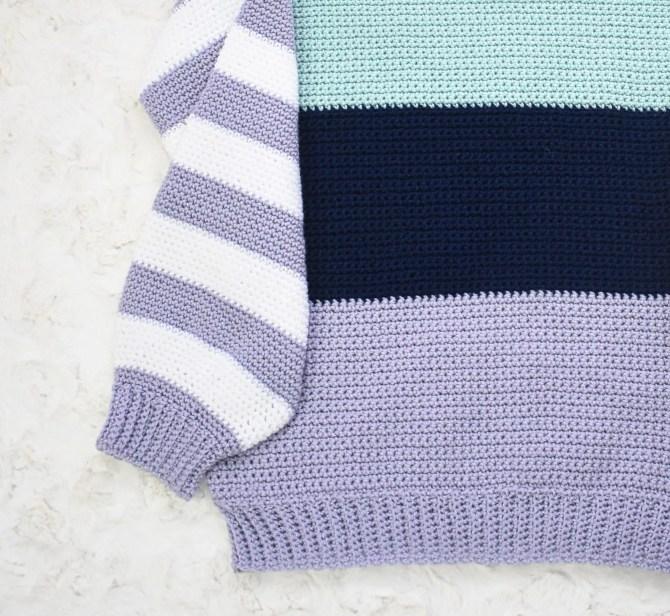 crochet colorblock sweater pattern