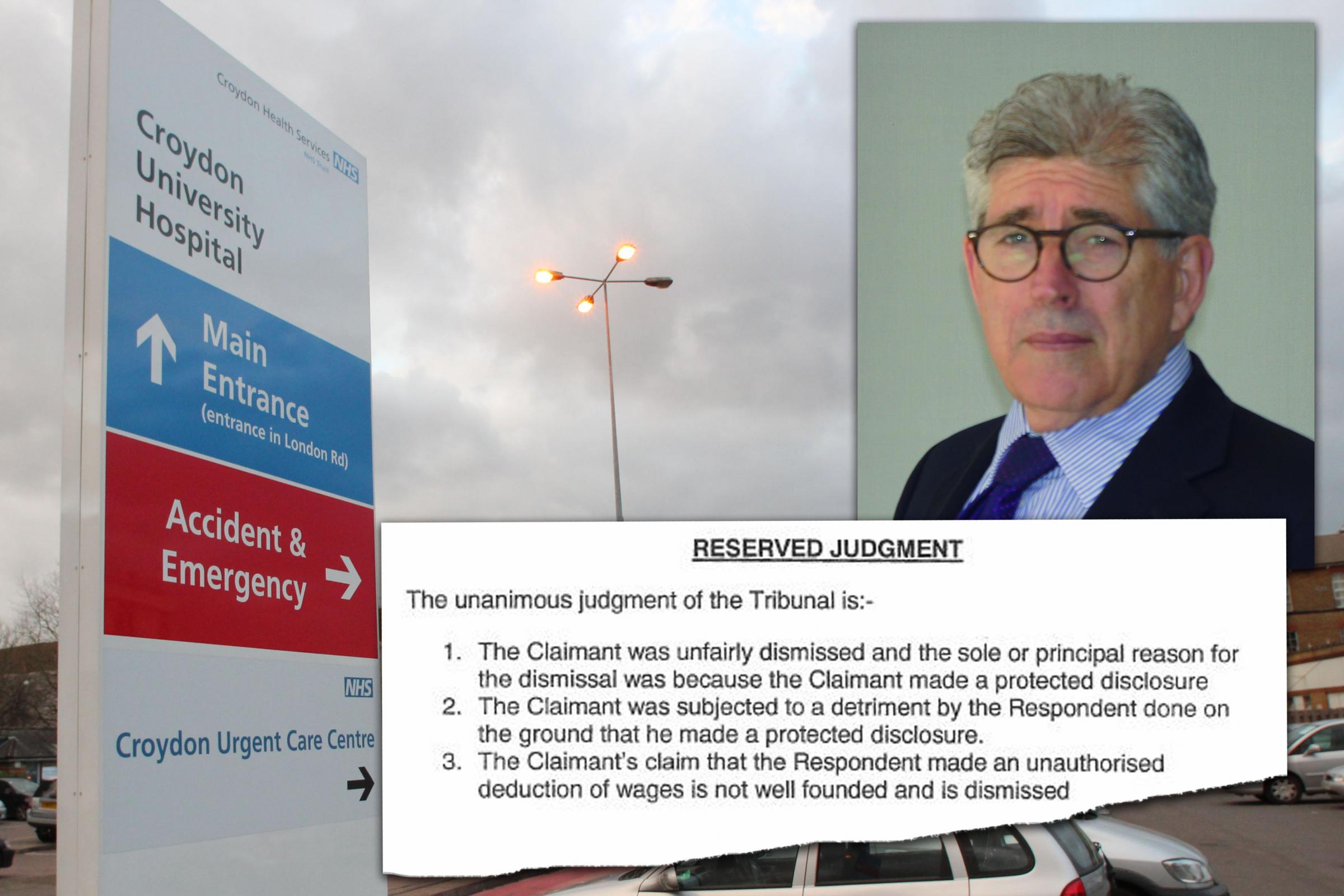 An employment tribunal ruled Dr Kevin Beatt was wrongly sacked by Croydon Health Services NHS Trust