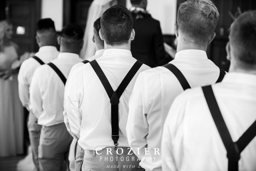 groomsmen with suspenders