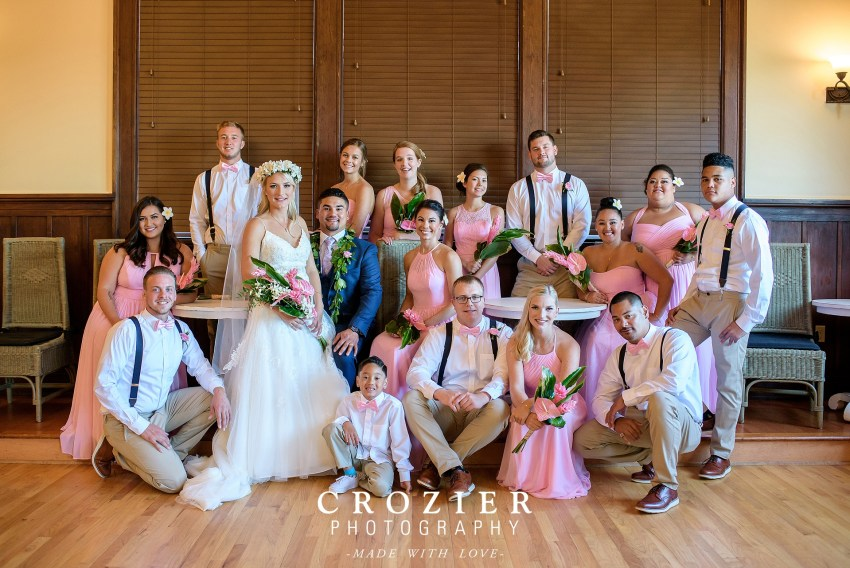 bridal party at the feather ballroom