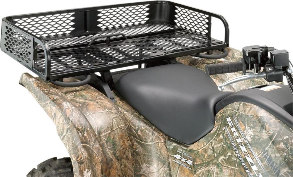 medium resolution of moose universal rear rubber coated mesh rack atv utv m4879