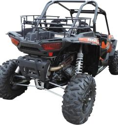 moose polaris rzr 1000 black cargo bed rack atv utv rz 1000 [ 1200 x 1125 Pixel ]