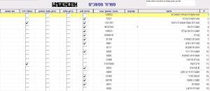 הגדרת ספרור מסמכים בתוכנת הנהלת חשבונות - צילום מסך בתוכנת מנג'ר