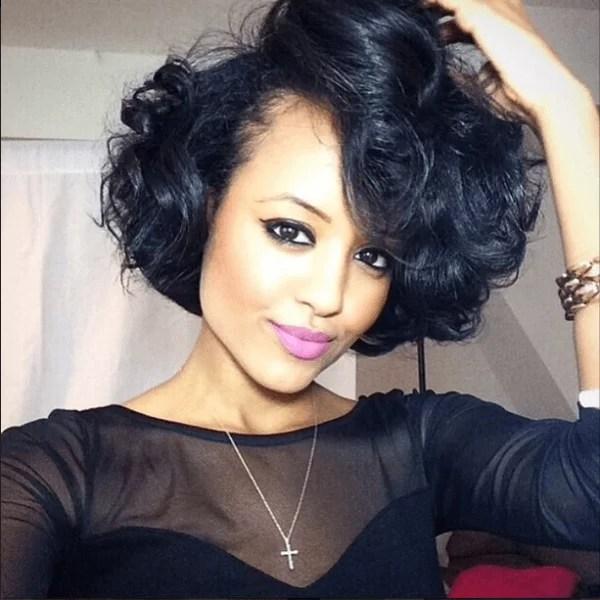 5 Crazy Wedding Wavy Bob Hairstyles Black Women Cruckers