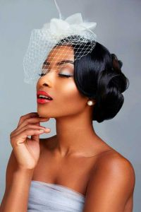 5 Sleek Wedding long hairstyles pinned on sides black