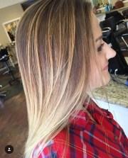 balayage straight hairstyles