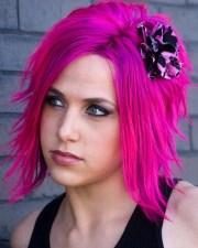 tips dye hair neon