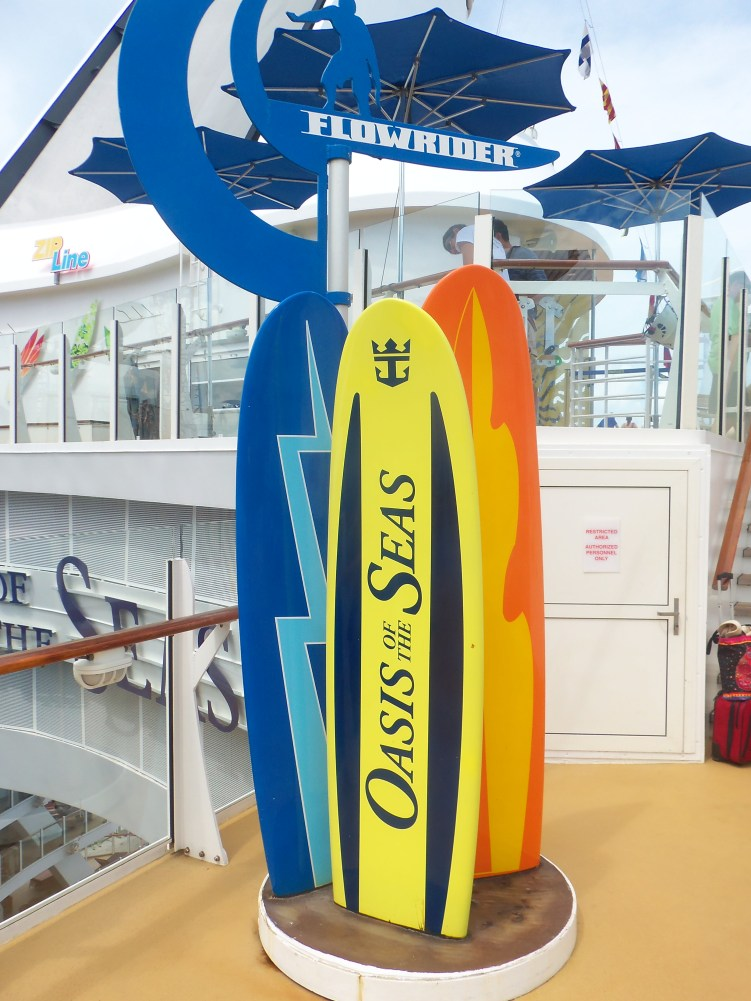 Oasis of the Seas surfboard