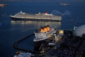 Queen Elizabeth and Queen Mary at Cunard Royal Rendezvous